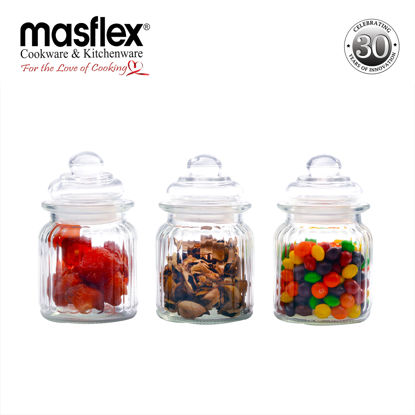 Picture of Masflex 3-Piece Glass Jars