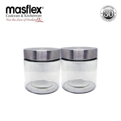 Picture of Masflex Set Of 2Pc Glass Jar W/ Lid