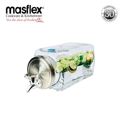 Picture of Masflex 3L Glass Dispenser With Metal Lid