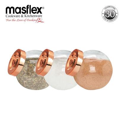 Picture of Masflex 3 Piece Glass Spice Jar
