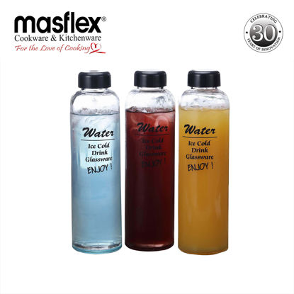 Picture of Masflex 3 Piece Glass Drinking Bottles