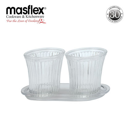 Picture of Masflex 2Piece French Fries & Snack Server W/ Glass Tray