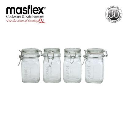 Picture of Masflex 4 Piece Glass Spice Storage