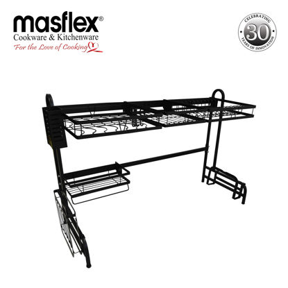Picture of Masflex Over the Sink Dish Drainer - Black