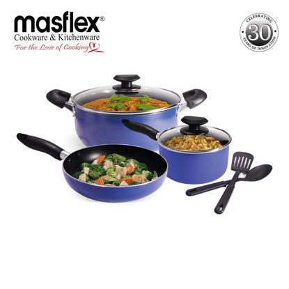 Picture of Masflex Non-Stick 7Pcs.Cookware Set Induction