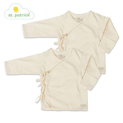 Picture of St. Patrick Tie-side Longsleeves x2 (3-6 mos.)