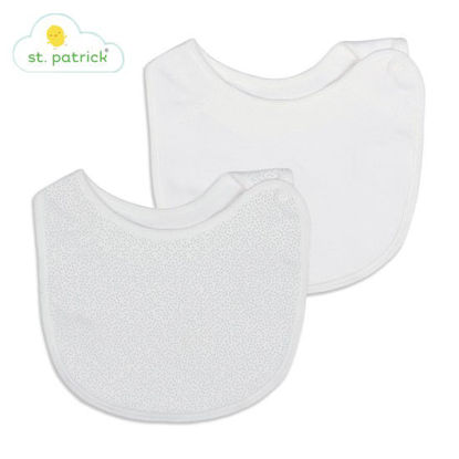 Picture of St. Patrick Side-Snap Bib (White)