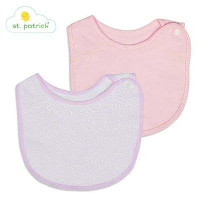 Picture of St. Patrick Side-Snap Bib (Pink)