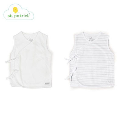 Picture of St. Patrick Tie-side Sleeveless x2 (White, 0-3 mos.)