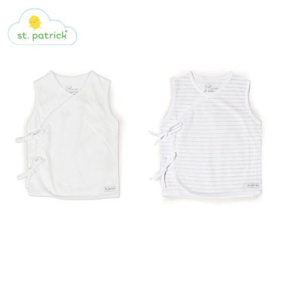 Picture of St. Patrick Tie-side Sleeveless x2 (White, 3-6 mos.)