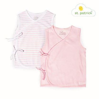 Picture of St. Patrick Tie-side Sleeveless x2 (Pink Stripes, 0-3 mos.)