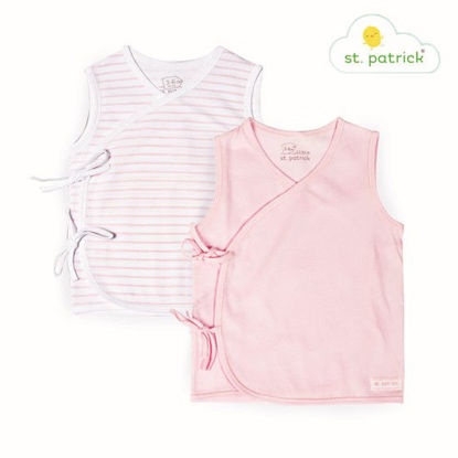 Picture of St. Patrick Tie-side Sleeveless x2 (Pink Stripes, 3-6 mos.)