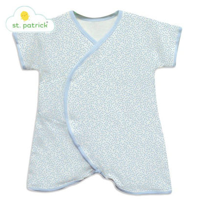 Picture of St. Patrick Midcalf Romper (Blue Polka, 3-6 mos.)