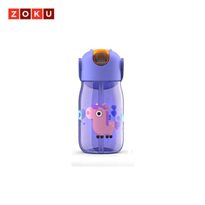 Picture of ZOKU Kids Flip Straw Bottle - Purple