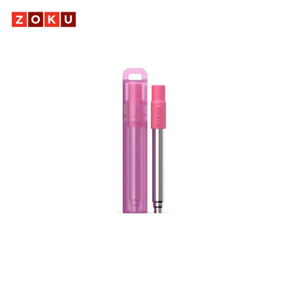 Picture of ZOKU Pocket Straw - Berry