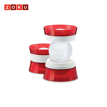 Picture of ZOKU Ice Ball Molds (Set of 2) - Red/White