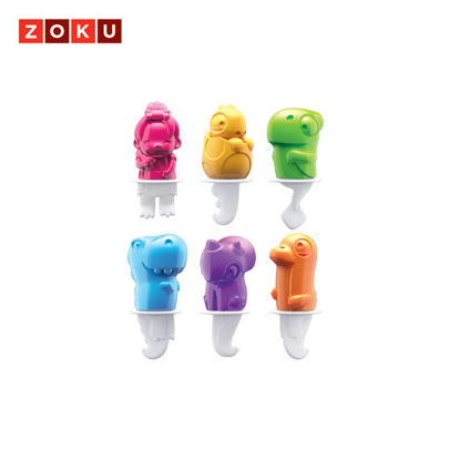 Picture of ZOKU Dinosaur Pop Molds - 6 Pops