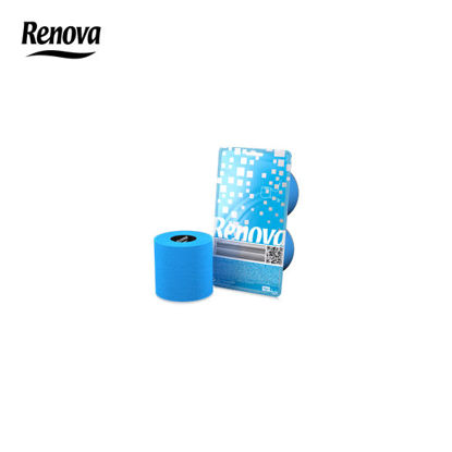 Picture of Renova Toilet Paper 2 Rolls per pack - Blue