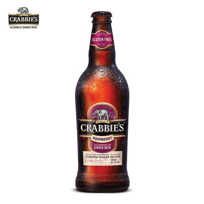Picture of Crabbie's Alcoholic Scottish Raspberry Beer Bottles 330ml 1 Case