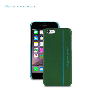 Picture of PIQUADRO BLUE SQUARE LEATHER IPHONE6 CASE