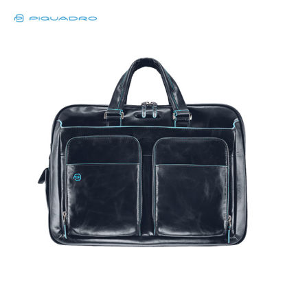 Picture of PIQUADRO BLUE SQUARE EXPANDABLE TWO HANDLES LAPTOP