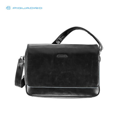 Picture of PIQUADRO BLUE SQUARE FLAP-OVER ORGANIZED BRIEFCASE