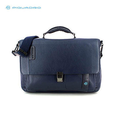 Picture of PIQUADRO PULSE FLAP-OVER COMPUTER BAG W IPAD