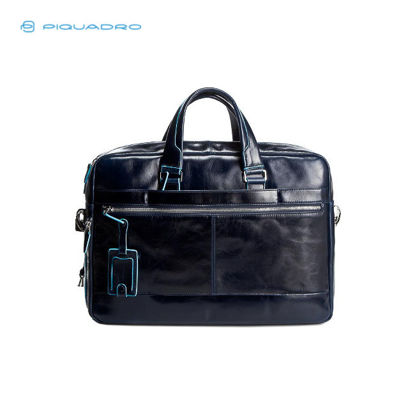 Picture of PIQUADRO BLUE SQUARE COMPUTER PORTFOLIO BRIEFCASE