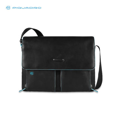 Picture of PIQUADRO BLUE SQUARE FLAPOVER COMP MESSENGER BAG