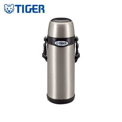 Picture of Tiger Drinking Bottle Hot & Cold With Carrying Strap 800m (27 oz) MBI-A080 Stainless Black
