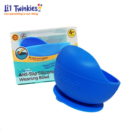 Picture of Li'l Twinkies Anti-Slip Silicone Weaning Bowl, Classic Blue