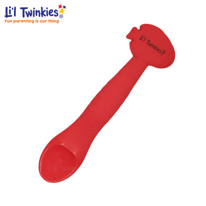 Picture of Li'l Twinkies Silicone Weaning Spoon, Red