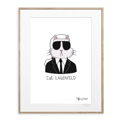 Picture of IMAGE REPUBLIC 30x40 cm TIFFANY MODE CAT LAGERFELD TIFFANY MODE