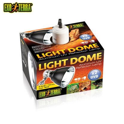 "Picture of Exo Terra Aluminum UV Reflector Lamp Light Dome 7"""