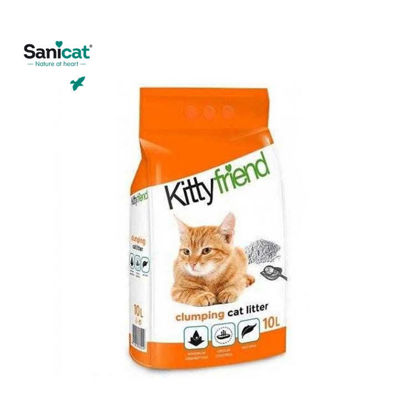 Picture of Sanicat Kitty Friend Clumping Lavander Scent 10L - White Bento Perfume