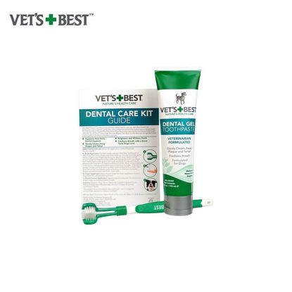 Picture of Vet's Best Dental Care Kit (Toothbrush & Gel 3.5oz)