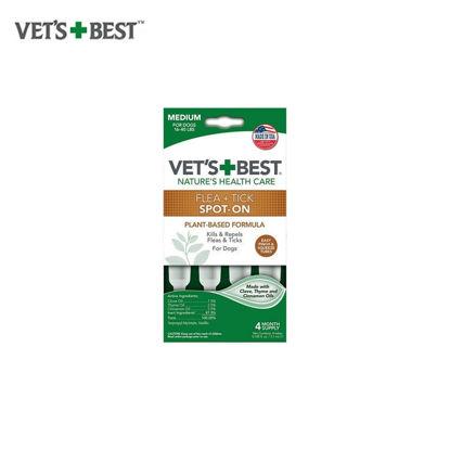 Picture of Vet's Best Flea & Tick Drops Medium 4 ct.