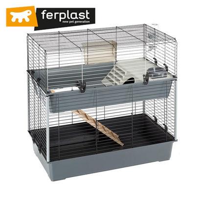 Picture of Ferplast Cage Rabbit 100 Double Black