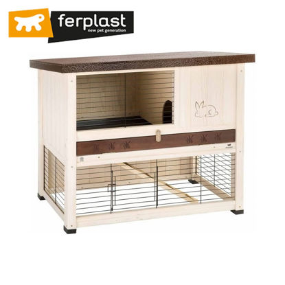 Picture of Ferplast Cage Ranch 100 Restyling White/Brown