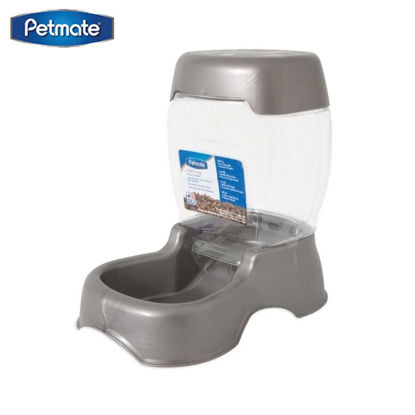 Picture of Petmate Café 12 Lb Feeder ~ Pearl Silver Grey