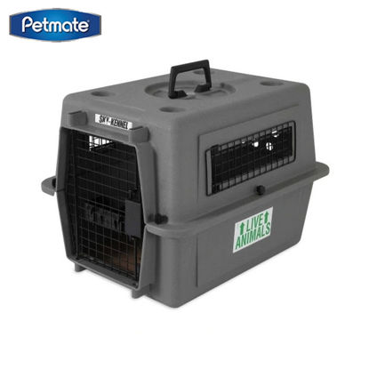 """Picture of Petmate Sky Kennel 21"""" Up To 15Lbs ~ Gray"""