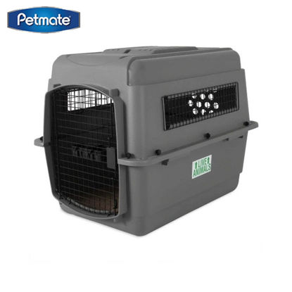 """Picture of Petmate Sky Kennel 32"""" 30-50Lbs ~ Gray"""