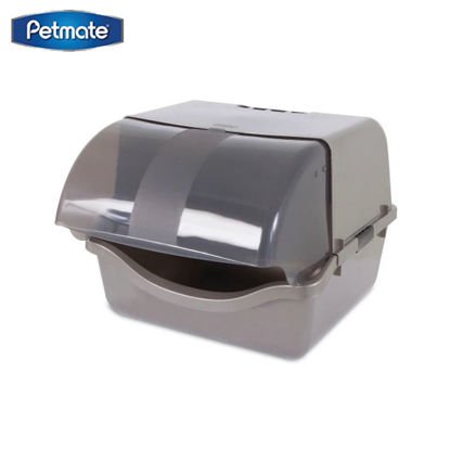 Picture of Petmate Retracting Litter Pan ~ Brushed Nickel