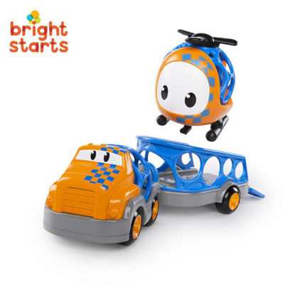 Picture of Bright Starts Go Grippers Truck and Trailer Set