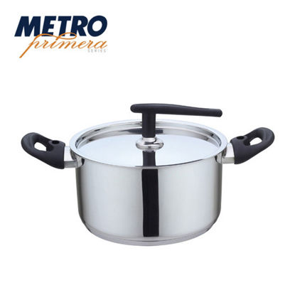 Picture of Metro Primera Series 18cm Stainless Steel Casserole with lid