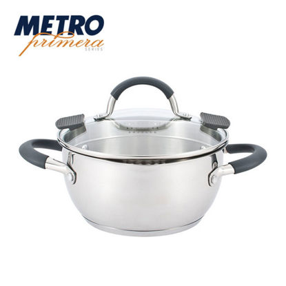 Picture of Metro Primera Series 24cm Stainless Steel Casserole with lid