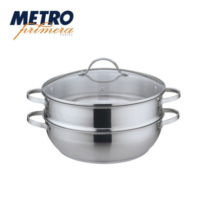Picture of Metro Primera Series 28cm Stainlesss Steel Low Pot with Steamer