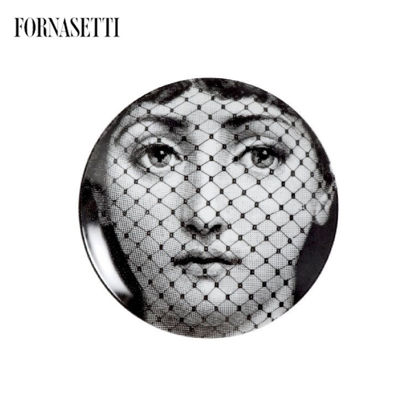 Picture of Fornasetti Wall plate Tema e Variazioni n°78 black/white