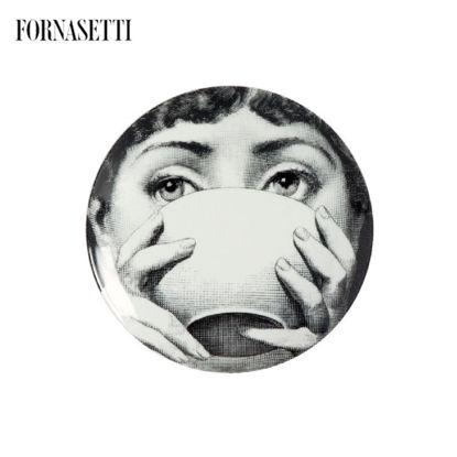Picture of Fornasetti Wall plate Tema e Variazioni n°191 black/white