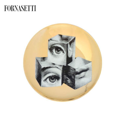 Picture of Fornasetti all plate Tema e Variazioni n°112 black/white/go